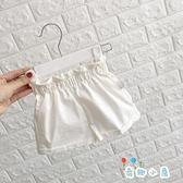 兒童短褲純棉外穿夏季薄款寶寶花苞打底褲【奇趣小屋】