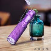 測試熒光劑檢測筆銀光可充電紫外線手電筒 米蘭世家