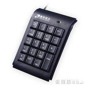 筆記本電腦數字鍵盤 USB外接迷你小鍵盤有線財務會計銀行免切換 愛麗絲精品