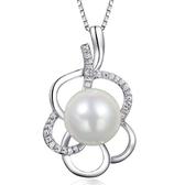 項鍊 925純銀珍珠吊墜-典雅大方生日情人節禮物女飾品73fy117【時尚巴黎】