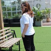 大碼T恤女胖mm肥婆夏裝加肥加大號寬鬆短袖純色上衣200斤大呎碼日系森林