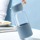 北歐風手提水瓶 高硼珪玻璃 透明水瓶 冷...