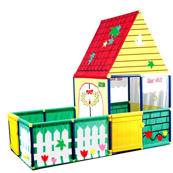 *粉粉寶貝玩具*SUNNYCAT 超大款歐式花園庭院別墅大球屋~有庭院~可開門喔