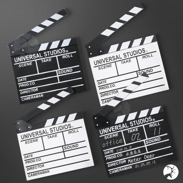 雙面 黑板 大款 場記板 導演板 電影拍板 留言板 婚紗 外拍 網紅 直播 攝影黑板-米鹿家居