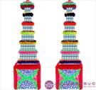 【大堂人本】JY14- 木柱方形六層全飲品罐頭塔(338瓶)
