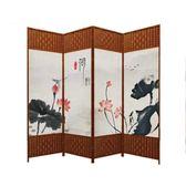 玄關屏風屏風隔斷客廳裝飾玄關牆簡易摺疊實木移動摺屏時尚辦公室簡約現代ATF 探索先鋒