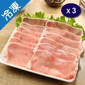台灣豬里肌火鍋片500G/盒X3【愛買冷凍】