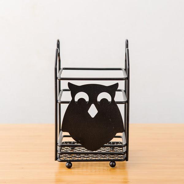 黑砂貓頭鷹廚具桶-生活工場