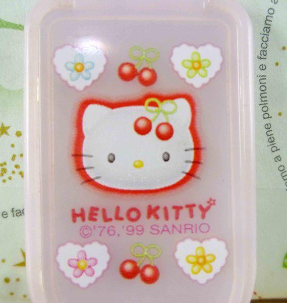 【震撼精品百貨】Hello Kitty 凱蒂貓-KITTY迷你摺疊鏡-櫻桃圖案-粉色