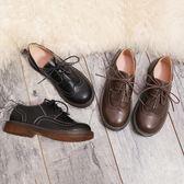 流蘇文藝復古馬丁鞋低筒森女日系女鞋學院風牛津單鞋圓頭學生皮鞋