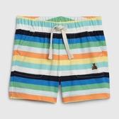 Gap男嬰時尚條紋鬆緊腰休閒短褲547415-彩色