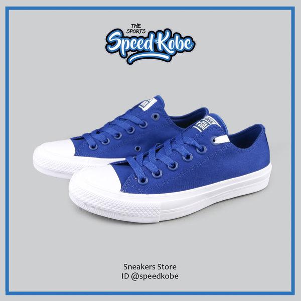 CONVERSE 帆布鞋 Chuck 2 Lunarlon底 2代 寶藍 情侶 男女 150152C【SP】