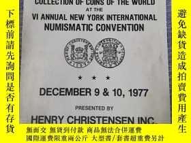 二手書博民逛書店國外早期錢幣拍賣罕見見圖 1977Y23037 DECEMBER