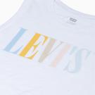 Levis 女款 無袖背心 / 復古馬卡龍色Serif Logo