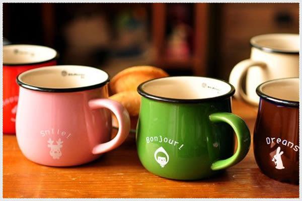 幸福朵朵【復古陶瓷杯(日式早餐杯.牛奶杯.咖啡杯)】-生日禮物/zakka雜貨婚禮小物《可挑色》