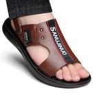 开车穿的凉鞋 男士涼鞋真皮夏季休閒軟底沙灘鞋新款防滑拖鞋兩用外穿涼拖鞋