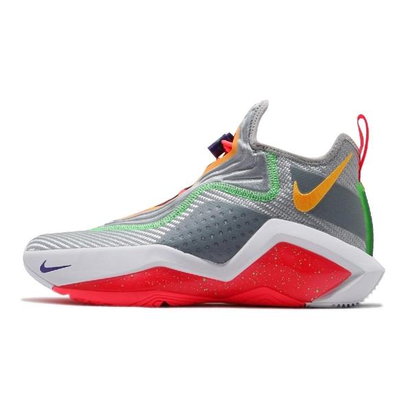 【六折特賣】Nike 籃球鞋 LeBron Soldier XIV EP 灰 紅 男鞋 女鞋 詹皇 氣墊 運動鞋【ACS】 CK6047-001