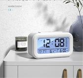 鬧鐘 鬧鐘學生用創意個性床頭兒童小電子錶智慧時鐘多功能鬧鈴大音量【幸福小屋】