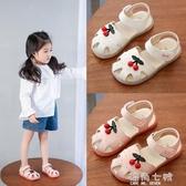 女童鏤空涼鞋夏季學生皮鞋新款公主鞋小孩童鞋防滑軟底鞋 海角七號