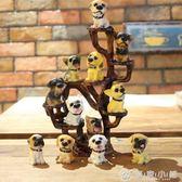 仿真樹脂12只名犬小狗狗 創意汽車家居裝飾擺件 生日工藝禮品 優家小鋪