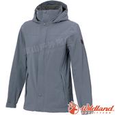 Wildland 荒野 W3911-69灰藍色 女單件式防水透氣外套 防風防雨/機能雨衣/抗風夾克/爬山健行*