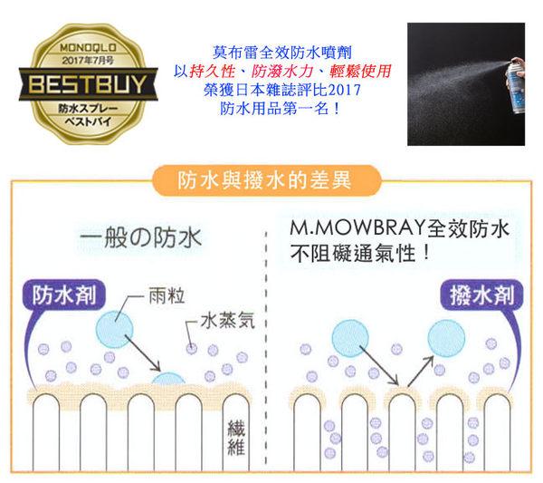 皮鞋類防水噴劑【莫布雷】 日本製 氟素防水 防污 不傷皮革(2017日本評比第一名)M.MOWBRAY