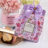 結婚用品婚慶喜糖盒子喜糖包裝盒韓式風格糖盒配蝴蝶結 滿1元88折限時爆殺