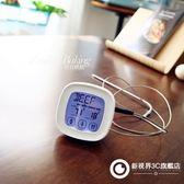 家用食品烤箱溫度計烘焙廚房水溫油溫報警電子食物液體測溫儀探針632-292