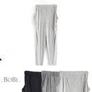 長褲 鬆緊腰側口袋運動薄款小腳長褲【MZKZ1002】 BOBI  08/18