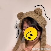 小物商店 一秒變身小熊的可愛保暖針織毛線貓耳朵護耳罩    (橙子精品)