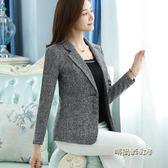2018年新款長袖小西裝女修身顯瘦西服時尚百搭厚款冬季女外套專櫃「時尚彩虹屋」