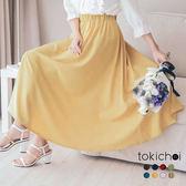 東京著衣-多色簡約百搭素面傘擺長裙-S.M.L(172319)