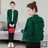 春秋季新款韓版百搭寬鬆長袖上衣棒球服夾克薄短款小外套女士 生活主義
