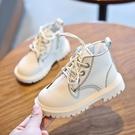 兒童馬丁靴 兒童靴子秋冬加絨兒童馬丁靴單靴1-3歲秋季男童鞋短靴女童皮靴2【快速出貨】