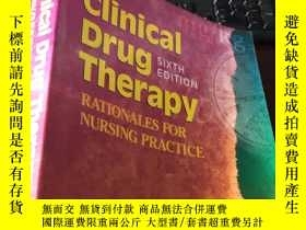 二手書博民逛書店Clinical罕見Drug Therapy rationals for nursing practice (si