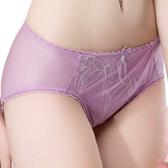 思薇爾-羽霓精靈系列M-XXL蕾絲刺繡中腰三角內褲(霓煙紫)