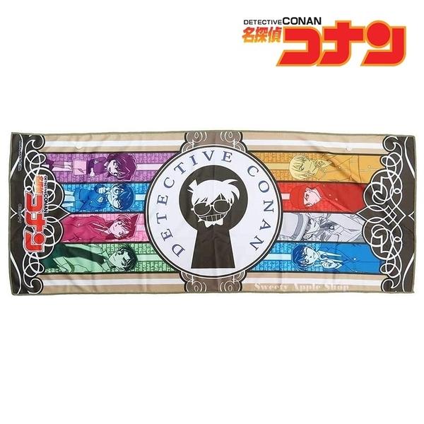 日本限定 名偵探柯南 家族人物版 抗UV 接觸冷感 長版毛巾 31×80cm