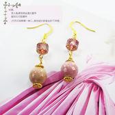 【粉紅堂 飾品】甜美薔薇石 耳環