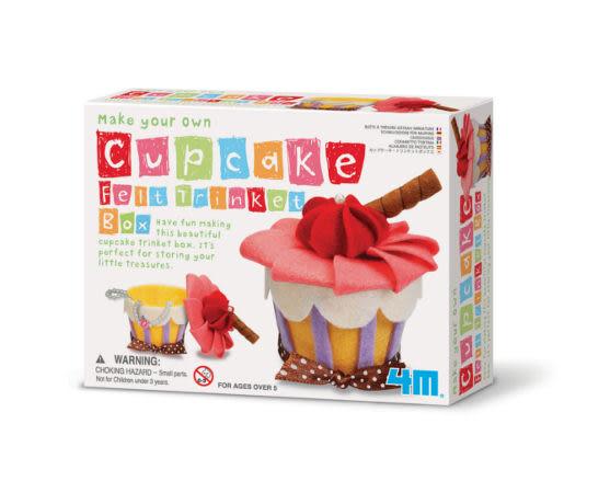《 4M美勞創作 》Make Your Own Cupcake Felt Trinket Box 俏麗蛋糕首飾盒 ╭★ JOYBUS玩具百貨