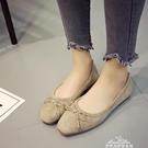 方頭豆豆鞋女鞋淺口平底鞋孕婦鞋樂福鞋蝴蝶結單鞋懶人鞋『夢娜麗莎』