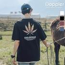 短T 科技感楓葉漸層變色設計 小寬鬆短袖T恤 情侶【TJH1562】現貨+預購 Doppler