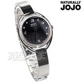 NATURALLY JOJO 星月凝望 時光相守 銀色 不銹鋼 手環 女錶 JO96971-89F