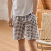 純棉睡褲男夏短褲寬鬆夏季薄款全棉家居短褲男休閒沙灘 花樣年華