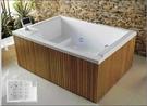 【麗室衛浴】國產 壓克力獨立缸  YG3358 含前牆 180*128*74CM