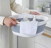 可摺疊洗盆 旅游便攜式塑料洗臉盆家用加厚硅膠伸縮洗衣盆子大號 聖誕節全館免運