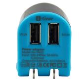 [富廉網] I-Gear 艾吉爾 3100mAh 雙USB 充電器(藍/黑) - T002D-BB