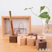 筆筒 創意木質收納辦公桌面擺件簡約時尚筆座個性筆插架小飾品 df2242【極致男人】
