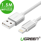 現貨Water3F綠聯 1.5M MFI Lightning to USB傳輸線 APPLE原廠認證 BRAID版