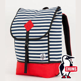 【CHUMS】 CH60-2074 SxN 雙面休閒 後背包-N020 深藍條紋/茄紅 戶外 旅遊