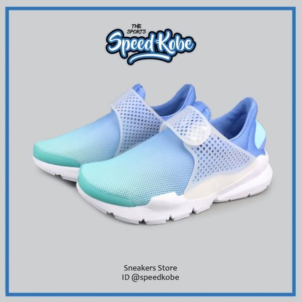 Nike 休閒鞋 Wmns Sock Dart 水藍白 BR Breeze 896446-400 -SPEEDKOBE-